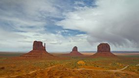 Time Lapse of Monument Valley, USA. Time Lapse of Desert Landscape in Monument Valley, Monument Valley Navajo Tribal Park. USA stock footage