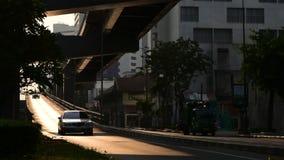 Time lapse of morning traffic at bridge, Thailand. Time lapse of morning traffic at bridge, Bangkok, Thailand stock footage