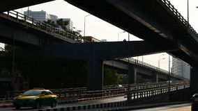 Time lapse of morning traffic at bridge, Thailand. Time lapse of morning traffic at bridge, Bangkok, Thailand stock video