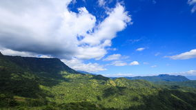 Time-lapse of mountain with blue sky and cloud at Khao Kho, Phetchabun, Thailand stock footage