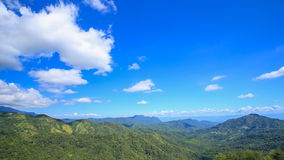 Time-lapse of mountain with blue sky and cloud at Khao Kho, Phetchabun, Thailand stock video footage