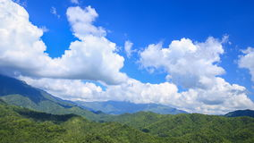 Time-lapse of mountain with blue sky and cloud at Khao Kho, Phetchabun, Thailand stock video