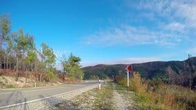 Time lapse mountain road stock video