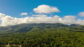 Time lapse: Mountains covered with rainforest, Philippines, Camiguin. stock footage