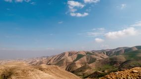 Time lapse - moving clouds over the the Judaean Desert in Israel. Time lapse - moving clouds over the the Judaean Desert, Midbar Yehuda stock video