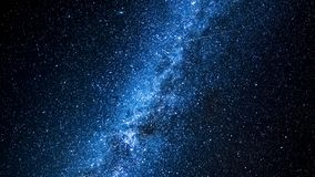 Time lapse of moving milky way with comets. As background stock footage