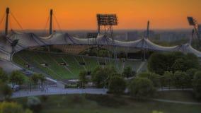 Time Lapse Munich Olympic Stadium stock footage