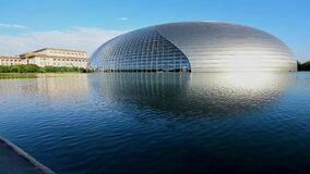 Time lapse of the National Centre for the Performing Arts in Beijing, China