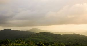 Time lapse of natural mountainous landscape during a cloudy sky at southern Thailand, Phuket. stock footage