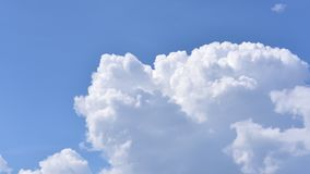Time lapse of nature clouds moving over clear blue sky in summer season stock footage