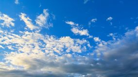 Time lapse of Nice blue sky wiith clouds movement stock video