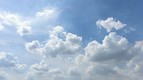 Time lapse of nice cloud with blue sky stock video footage