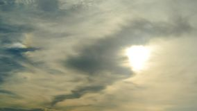 Time lapse of Nice clouds movement with sun in sky stock video