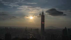 Time lapse of nice view of taipei night, Taiwan stock video footage