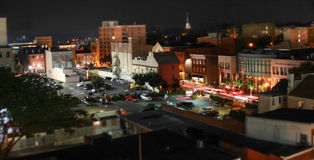 Time lapse at night. Time lapse of cars in a city at night Royalty Free Stock Photo
