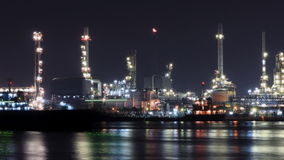 Time lapse oil refinery industry stock footage