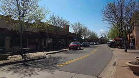 Time lapse from Old Town Arvada. A time lapse of the traffic in Old Town Arvada, Colorado stock video