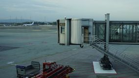 Time lapse at Oslo Airport. Norway. Pedestal up stock footage