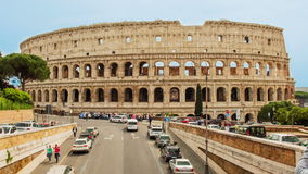 Time lapse over the Flavian Amphitheatre, aka Colosseum, Rome, Italy stock footage