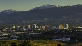 Time lapse over Reno, Nevada skyline. Time lapse over Reno, Nevada at sunset stock video footage