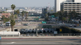 Time Lapse of Overpass on the 101 Freeway in Downtown Los Angeles stock footage