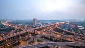 Time lapse of overpass in nanjing stock video