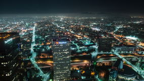 Time Lapse Overview of Los Angeles - 4K stock footage