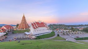 Time lapse pagoda and Buddhist church stock footage