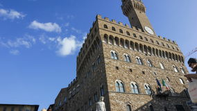 Time lapse of the Palazzo Vecchio, the Town Hall, in Florence, Italy. stock footage