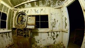 Time Lapse Pan of Abandon Mine at Night - 4k stock footage
