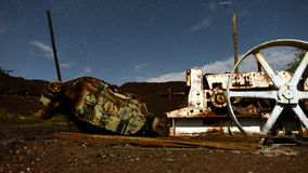 Time Lapse Pan of Abandon Mine at Night - 4k stock video