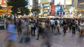 Time Lapse Pan of Busy Shibuya Station & Crossing in Tokyo Japan stock footage