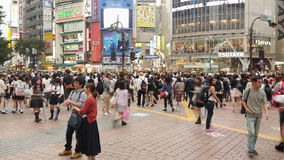 Time Lapse Pan of Busy Shibuya Station & Crossing in Tokyo Japan stock video footage