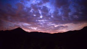 Time Lapse Pan of Mountain Range at Night - 4K. Mountain Range in Central California stock video