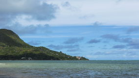 Time lapse of panorama at Praslin island, Seychelles stock video footage