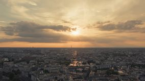 Time Lapse of Panoramic view on Berlin at picturesque sunset. The direction of shot is from Alexanderplatz. Time Lapse of Panoramic view on Berlin from 37th stock footage