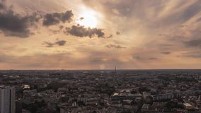 Time Lapse of Panoramic view on Berlin from 37th floor at picturesque sunset. The direction of shot is from Alexanderplatz toward south - western Berlin stock video footage