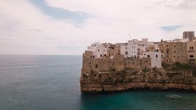 Panoramic view of Polignano. Puglia. Italy. Time-lapse. stock footage