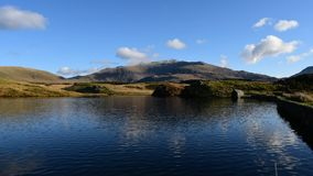 Time lapse and panoramic views of Llyn y Dywarchen, and Snowdon in the Snowdonia National Park, Wales.
