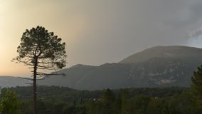 Time lapse of Pays Arriere in Provence, France hills and foot of Alps mountains in summer, near Grasse.  stock video footage