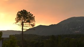 Time lapse of Pays Arriere in Provence, France hills and foot of Alps mountains in summer, near Grasse.  stock video