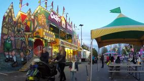 Time lapse of people having fun at the Carnival stock video footage
