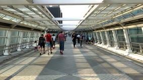 Time Lapse of People on Pedestrian Walkway  - Tokyo Japan stock video footage