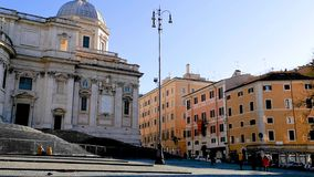 Santa Maria Maggiore in Rome stock video footage