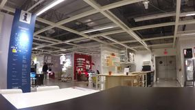 Time lapse of people shopping their furniture  inside Ikea store Royalty Free Stock Photos