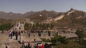Time lapse of the Great Wall of China stock footage