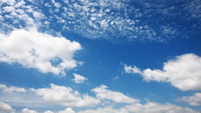 Time lapse perspective moving Clouds stock video footage