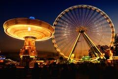 Time Lapse Photo of Circus Rides at Night Stock Photos