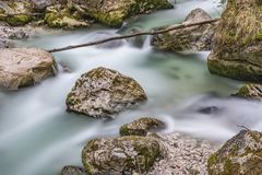 Time Lapse Photo Of Flowing River Stock Images