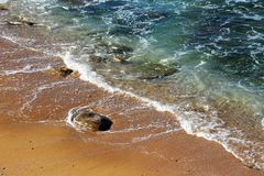 Time Lapse Photo of Sea Wave Royalty Free Stock Photography